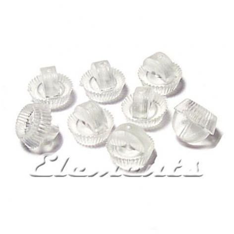10 Soft Plastic Stud Earring Backs